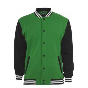 URBAN CLASSICS 3-tone Sweat Collegejacke grün