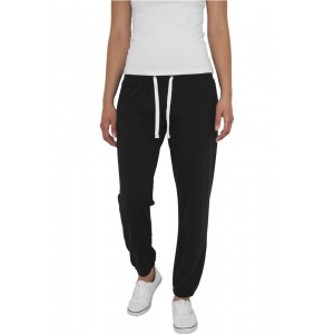 URBAN CLASSICS Ladies Fitted Sweatpant schwarz