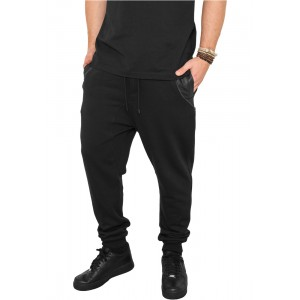 URBAN CLASSICS Side Zip Leather Pocket Sweatpant schwarz