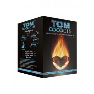 TOM Coco C15 blau, 1 kg Kokoskohle-Briketts