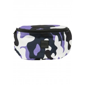 Urban Classics Camo Hip Bag ultraviolet camo