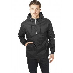 URBAN CLASSICS Pull Over Windbreaker schwarz
