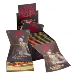 WIZ KHALIFA Loud Pack 1 1/4 (Tray + Raw Papers + Tips), 15er Box