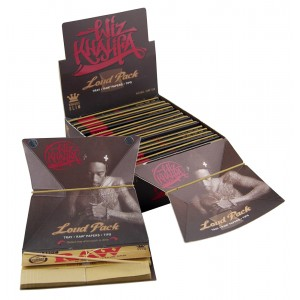 WIZ KHALIFA Loud Pack King Size (Tray + Raw Papers + Tips), 15er Box