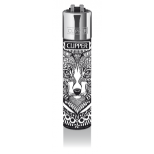 CLIPPER Feuerzeug Tattoo Animals (Wolf)