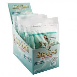 Zig-Zag Menthol Slim Filter, 10er Großpackung