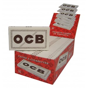 OCB Weiß Double Papers kurz N 4, 25er Box