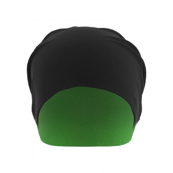 MasterDis Jersey Beanie reversible schwarz/neongrün