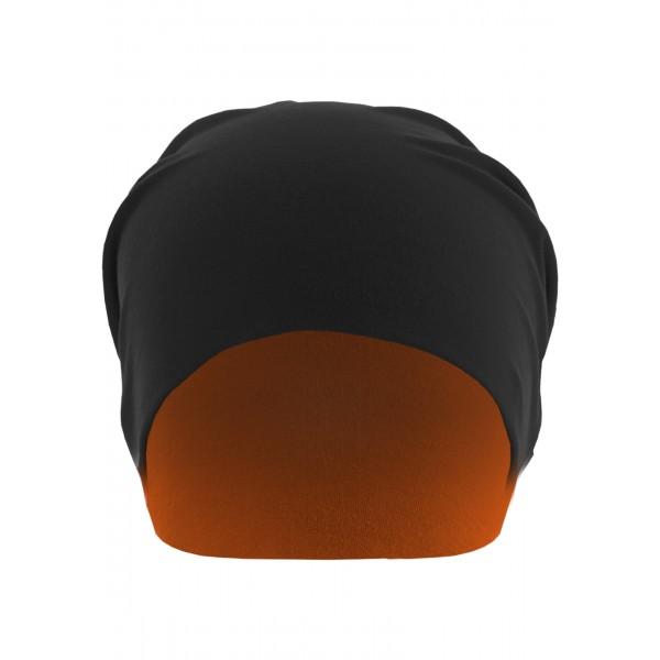 MasterDis Jersey Beanie reversible schwarz/neonorange