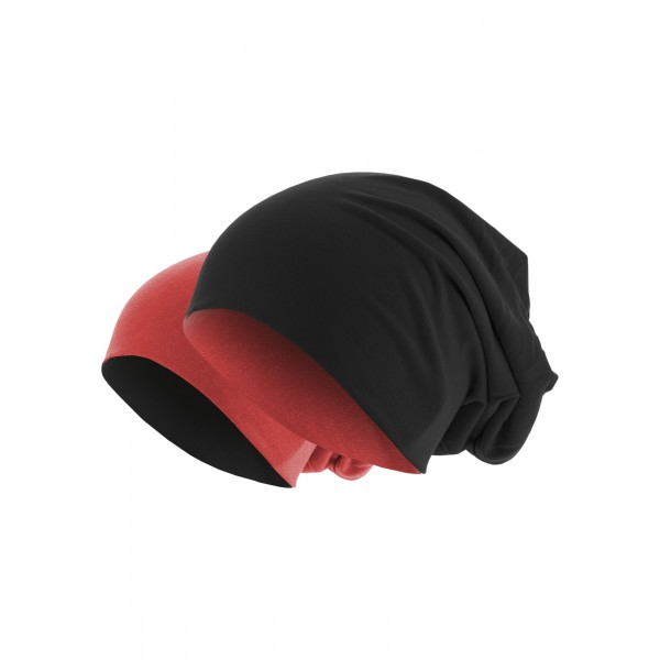 MasterDis Jersey Beanie reversible schwarz/rot