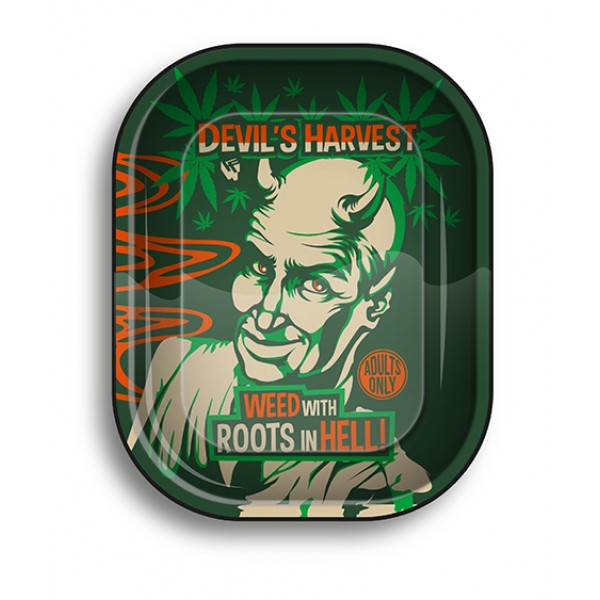 Fire-Flow Metal Rolling Tray Reefer Madness micro