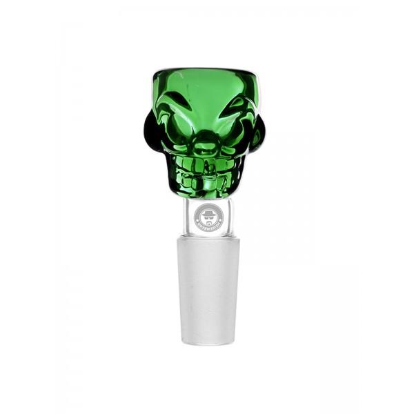 WEED-STAR Bong Kopf Skull Bowl grün
