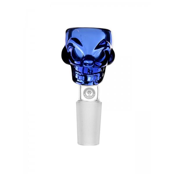 WEED-STAR Bong Kopf Skull Bowl, blau