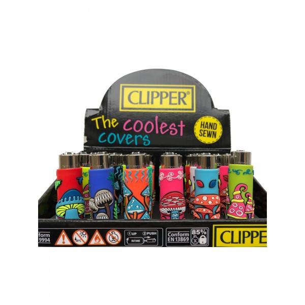 CLIPPER Feuerzeug Silikon Pilze (Handgenäht)