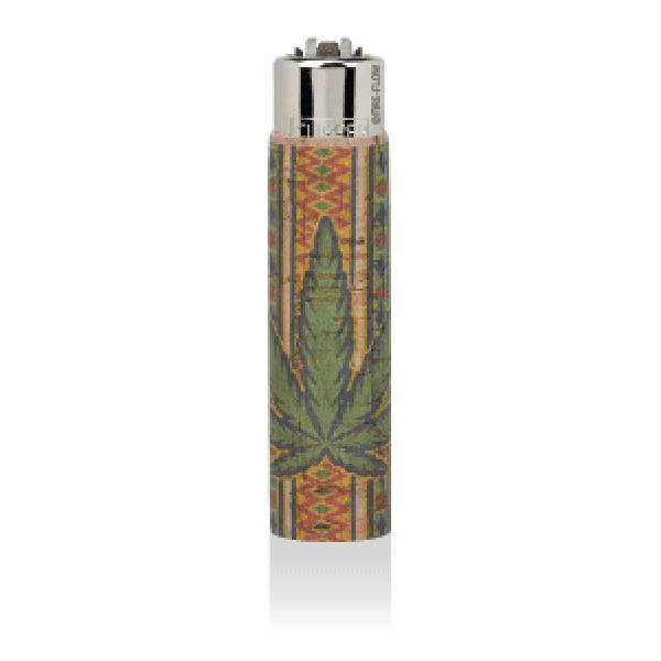 CLIPPER Feuerzeug Cork Cover Leaf #7 SmallGreenRue (Handgenäht)
