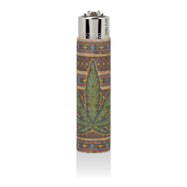 CLIPPER Feuerzeug Cork Cover Leaf #7 SmallYellowRue (Handgenäht)