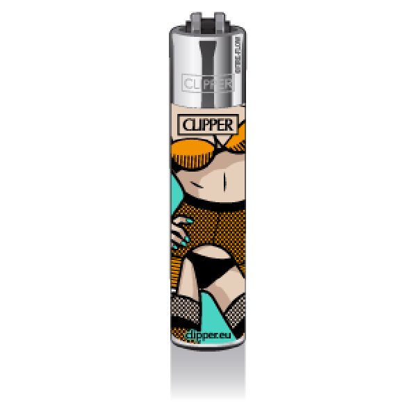 CLIPPER Feuerzeug Popart Porn #2, turquoise