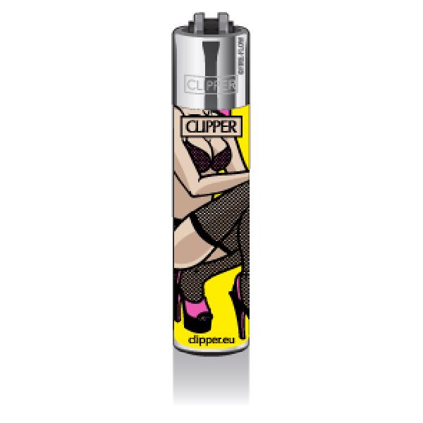 CLIPPER Feuerzeug Popart Porn #2, yellow
