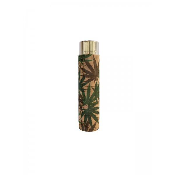 CLIPPER Feuerzeug Cork Cover Leaf #17 Hanfblatt (Handgenäht)