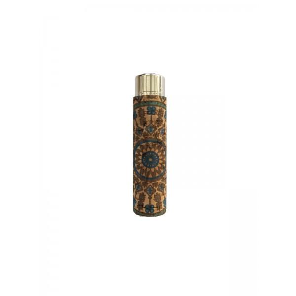 CLIPPER Feuerzeug Cork Cover Leafs Batik mini Mandala (Handgenäht)