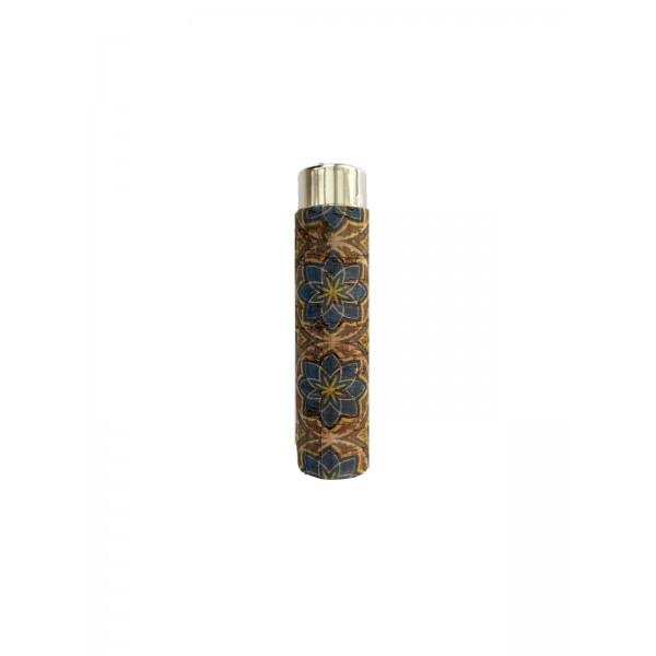 CLIPPER Feuerzeug Cork Cover Leafs Batik mini Flower (Handgenäht)