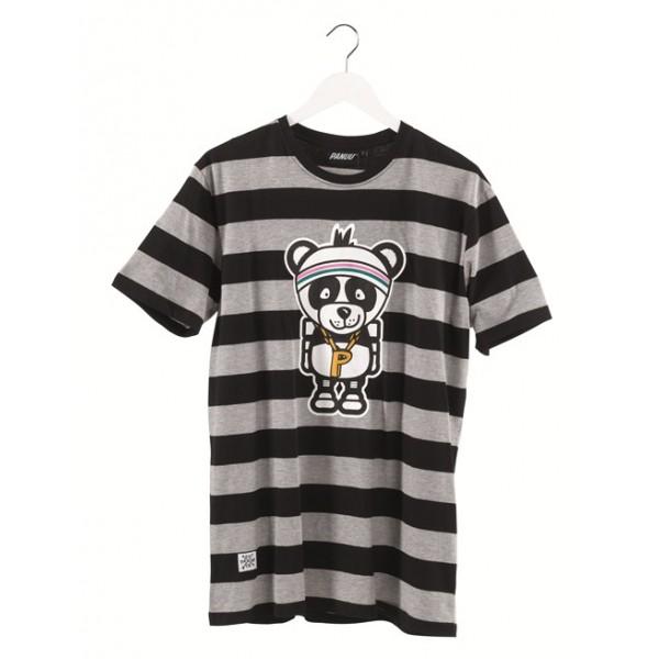 panuu becker tee streifen grau t shirt g nstig online kaufen im streetwear shop von. Black Bedroom Furniture Sets. Home Design Ideas