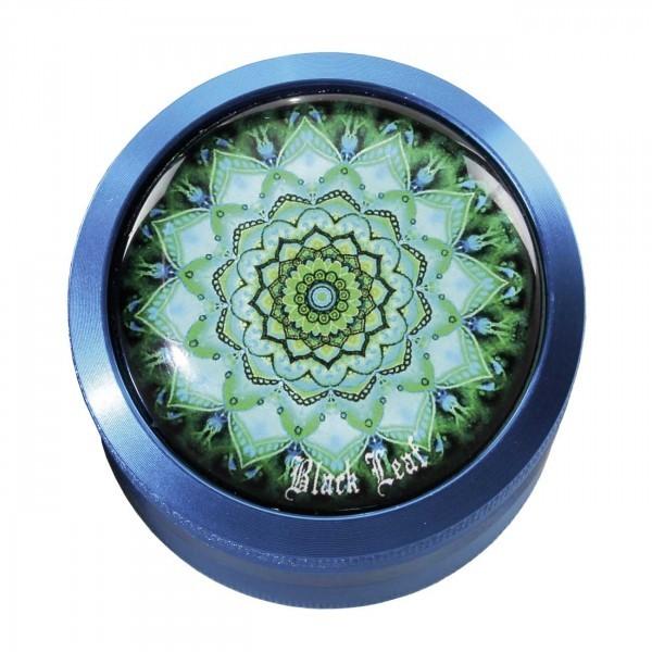'Black Leaf' 'Mandala' Alu-Grinder 4-tlg. blau