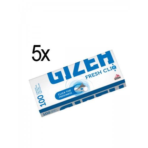 Gizeh Fresh Cliq, 5 x 100 Filterhülsen