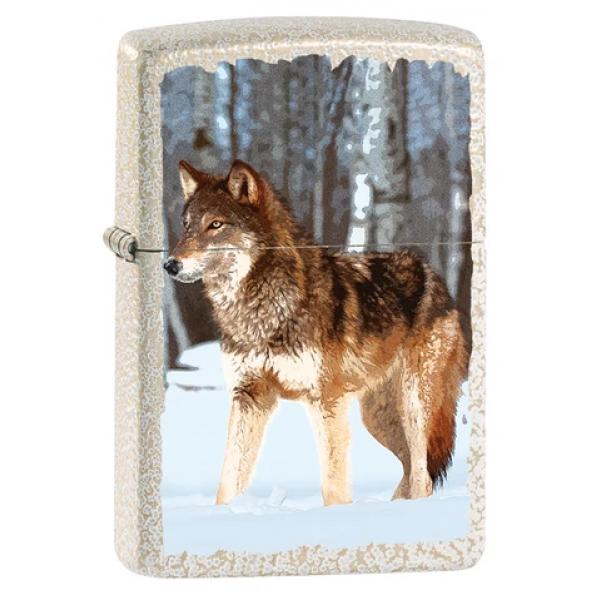 Zippo Feuerzeug Wolf In Snowy Forest