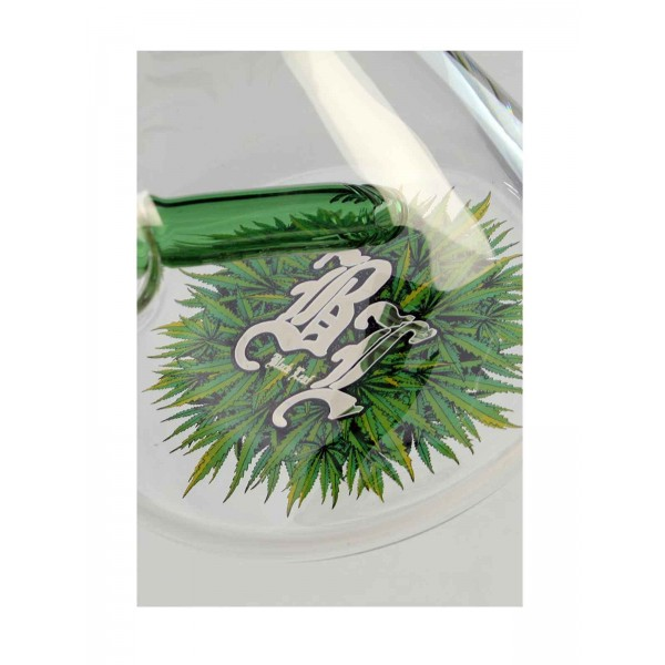 'BL' 'Leaves' Icebong mit 10-Arm Baumperkolator chillum