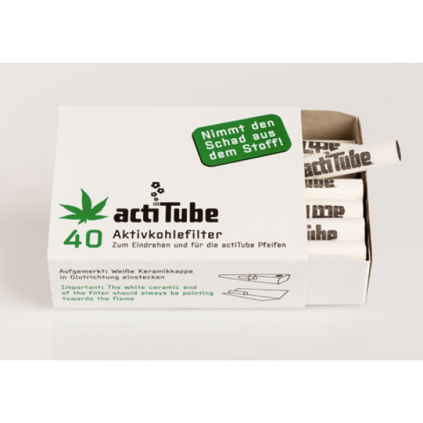 actiTube Aktivkohlefilter, 40er Packung