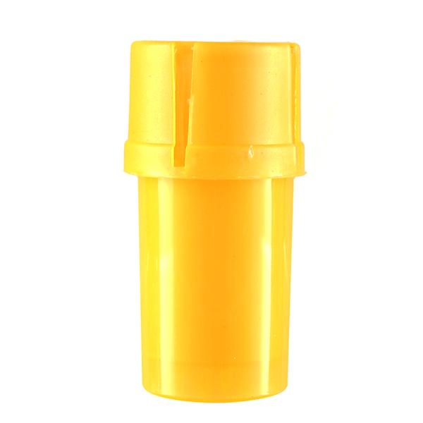 Airtainer 2-teiliger Kunststoff-Grinder mit Depot gelb