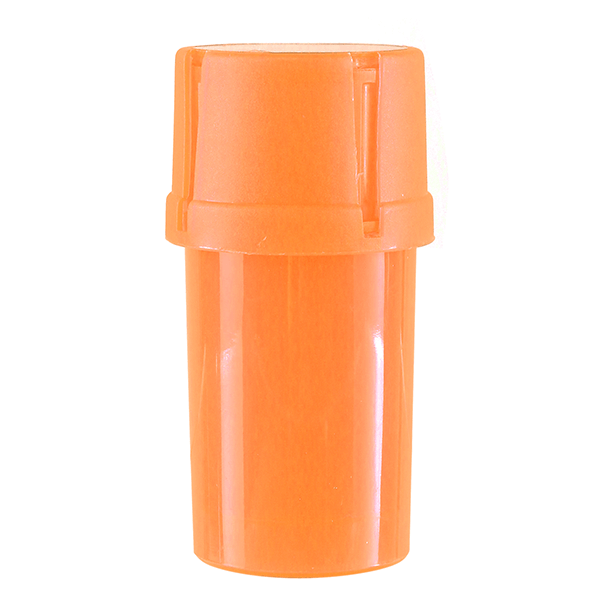 Airtainer 2-teiliger Kunststoff-Grinder mit Depot orange