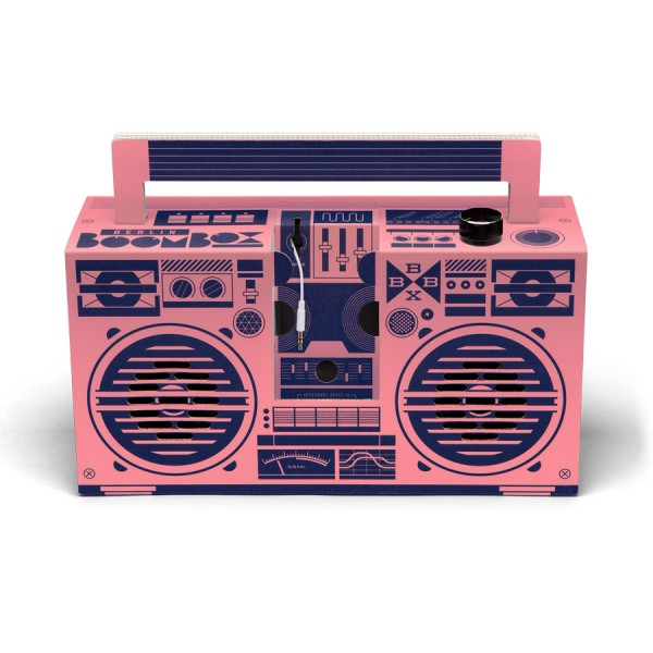 Berlin Boombox Lautsprecher Pink