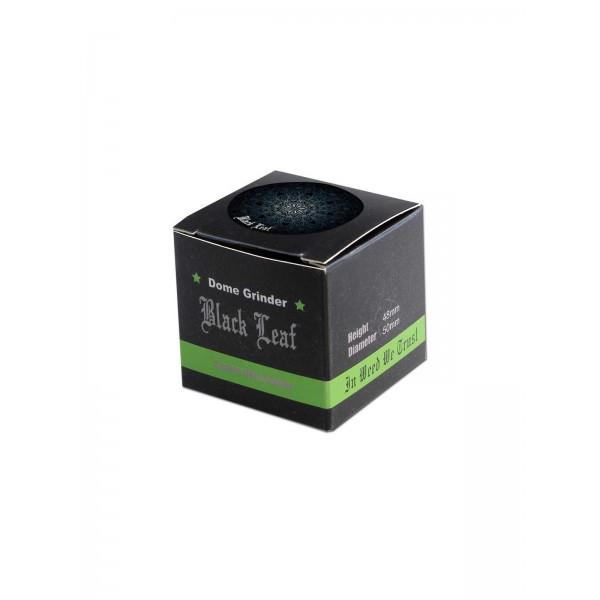 Black Leaf Alu Grinder Mandala, schwarz  verpackung