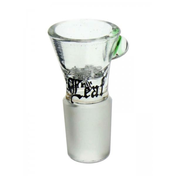 Black Leaf Bongkopf mit integriertem Glassieb 14,5 Schliff