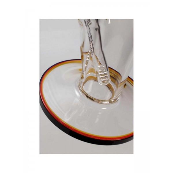 Blaze Glass 'Crown' Icebong NS 19/14 klar Rundfuß