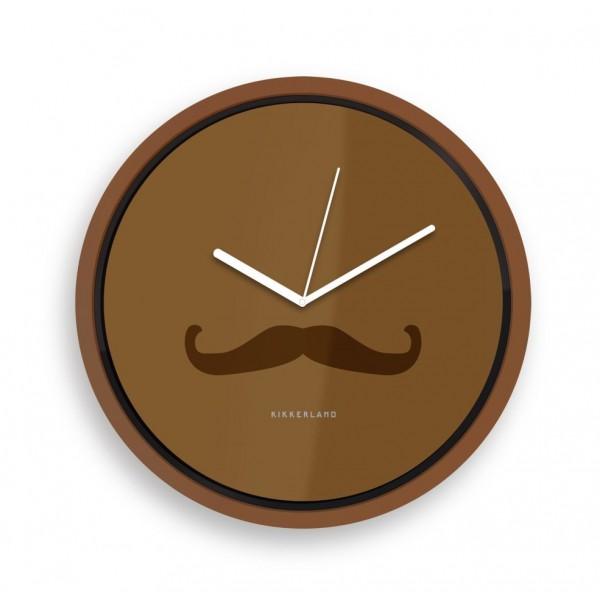 Kikkerland Wanduhr Mustache