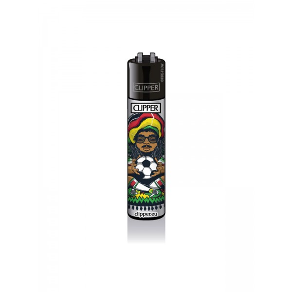 CLIPPER Feuerzeug Rastaman - Footbal
