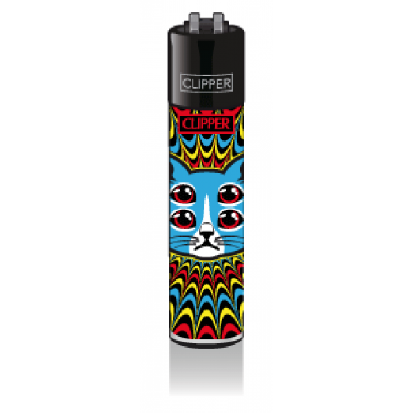 CLIPPER Feuerzeug Trippy Cats #2 - Red