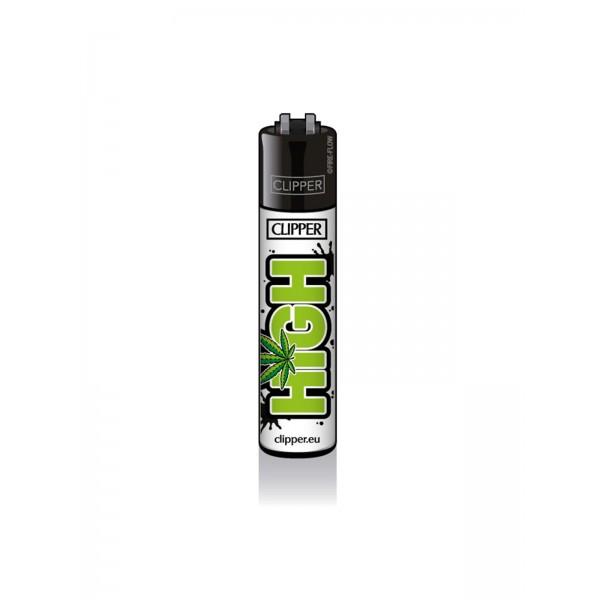 CLIPPER Feuerzeug Weed Slogan 1A - High