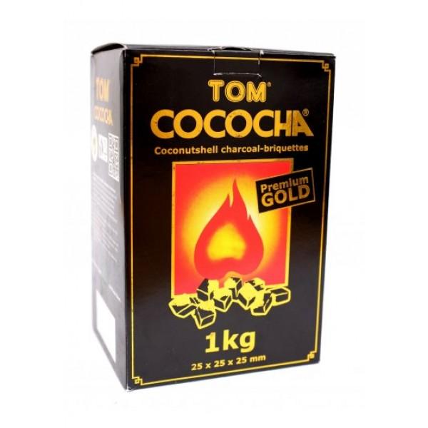 TOM Cococha Gold, 1 kg Kokoskohle-Briketts