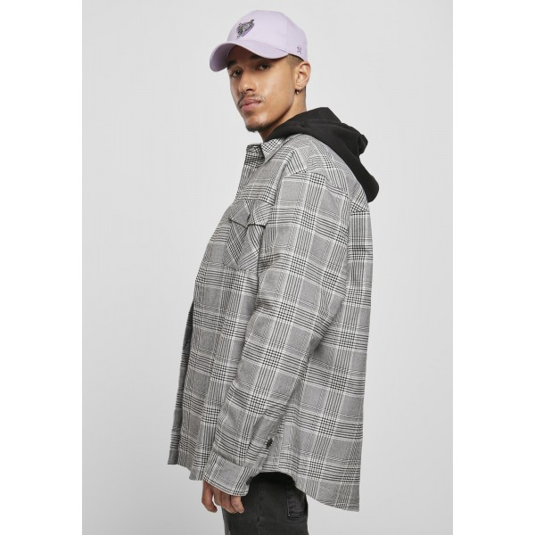 Cayler & Sons Plaid Out Quilted Shirt Jacket schwarz weiß