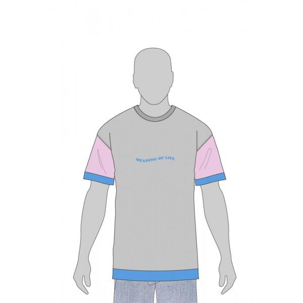 CSBL Coop Of Life Semi Box Tee grau-rosa