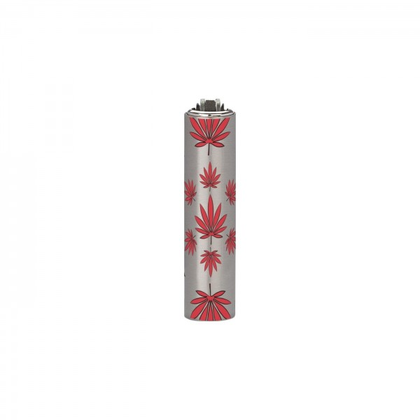 CLIPPER Feuerzeug Micro Metal Cover Leaves rot
