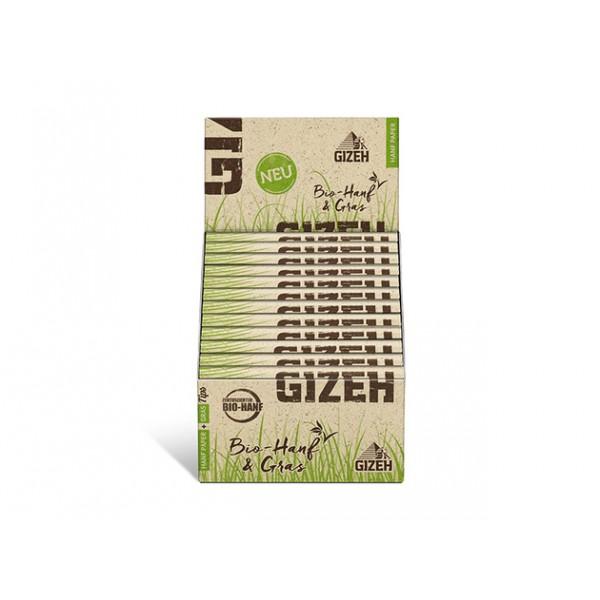 Gizeh Hanf & Gras King Size Slim + Tips 24er Box