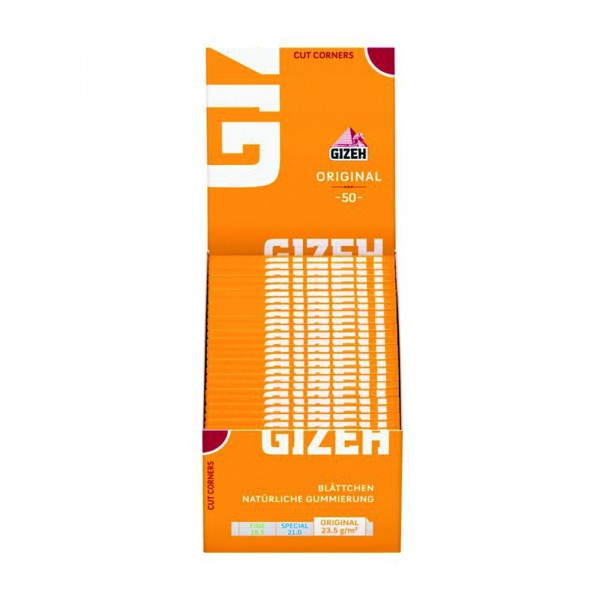 Gizeh Gelb Papers Cut Corners, 50er Box