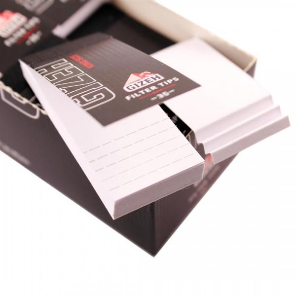 Gizeh Black King Size Filter Tips perforiert einseitig Heftchen einzeln