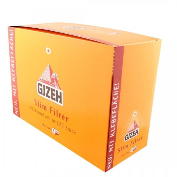GIZEH Slim Filter, 20er Großpackung