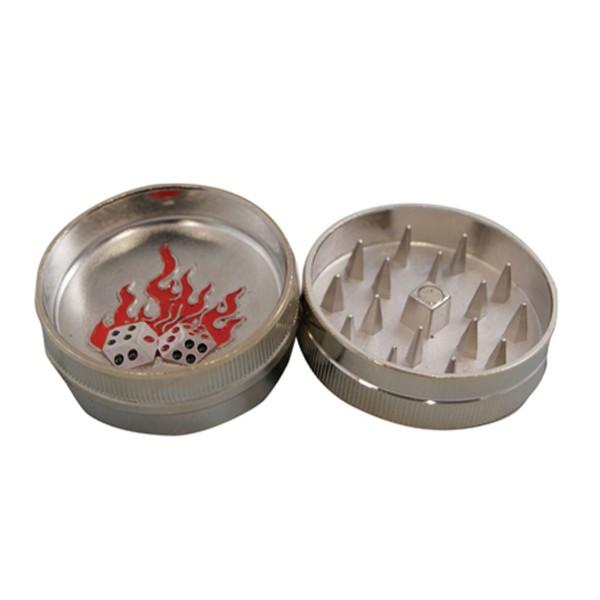 BUDDIES Mini Metal Grinder, Burning Dices